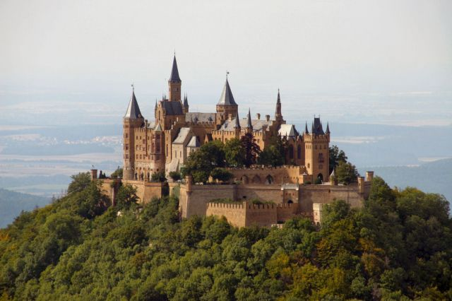 Hohenzollern Castle, Germany - Closer view of the castle