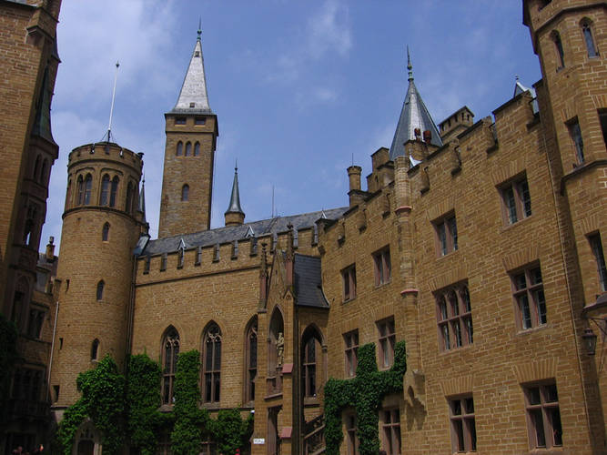 Hohenzollern Castle, Germany - Facade