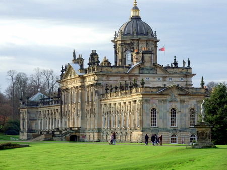 Castle Howard, England - Side view of the castle