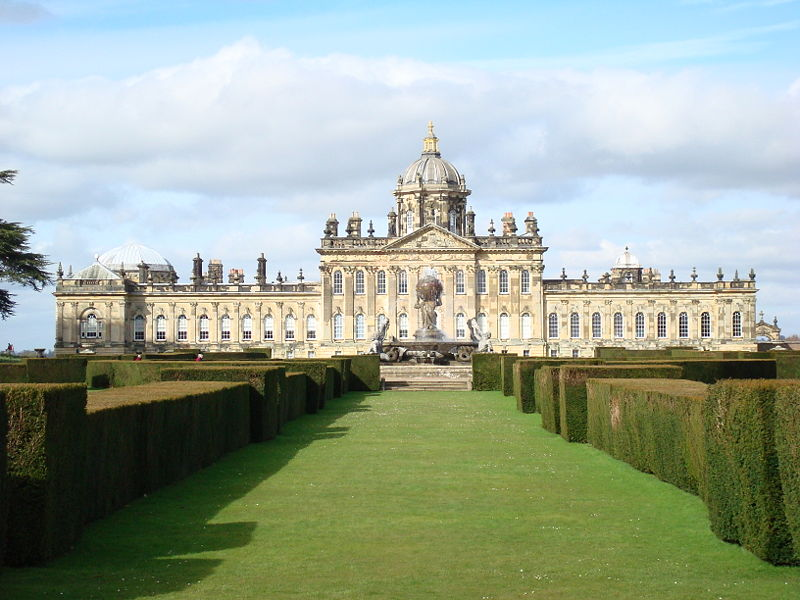 Castle Howard, England - Well-cared English-style garden