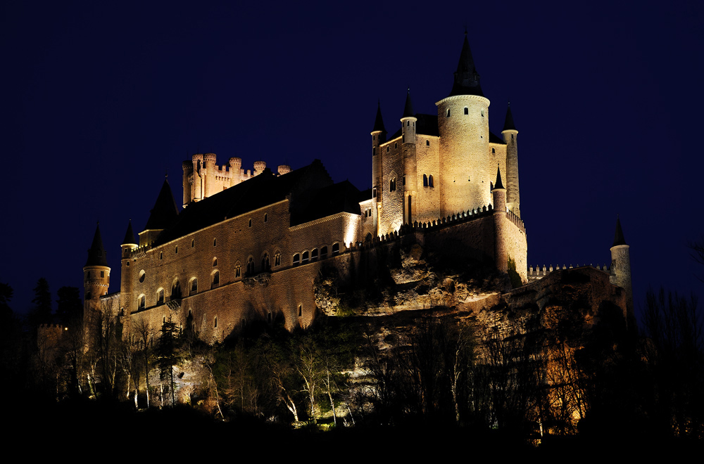 Segovia Castle, Spain - Alcázar of Segovia at night