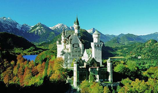 Neuschwanstein Castle, Germany - Beautiful view of the castle