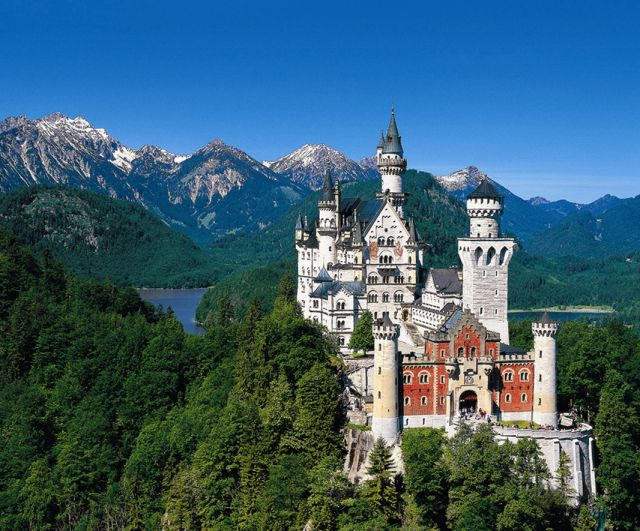 Neuschwanstein Castle, Germany - General view of the castle