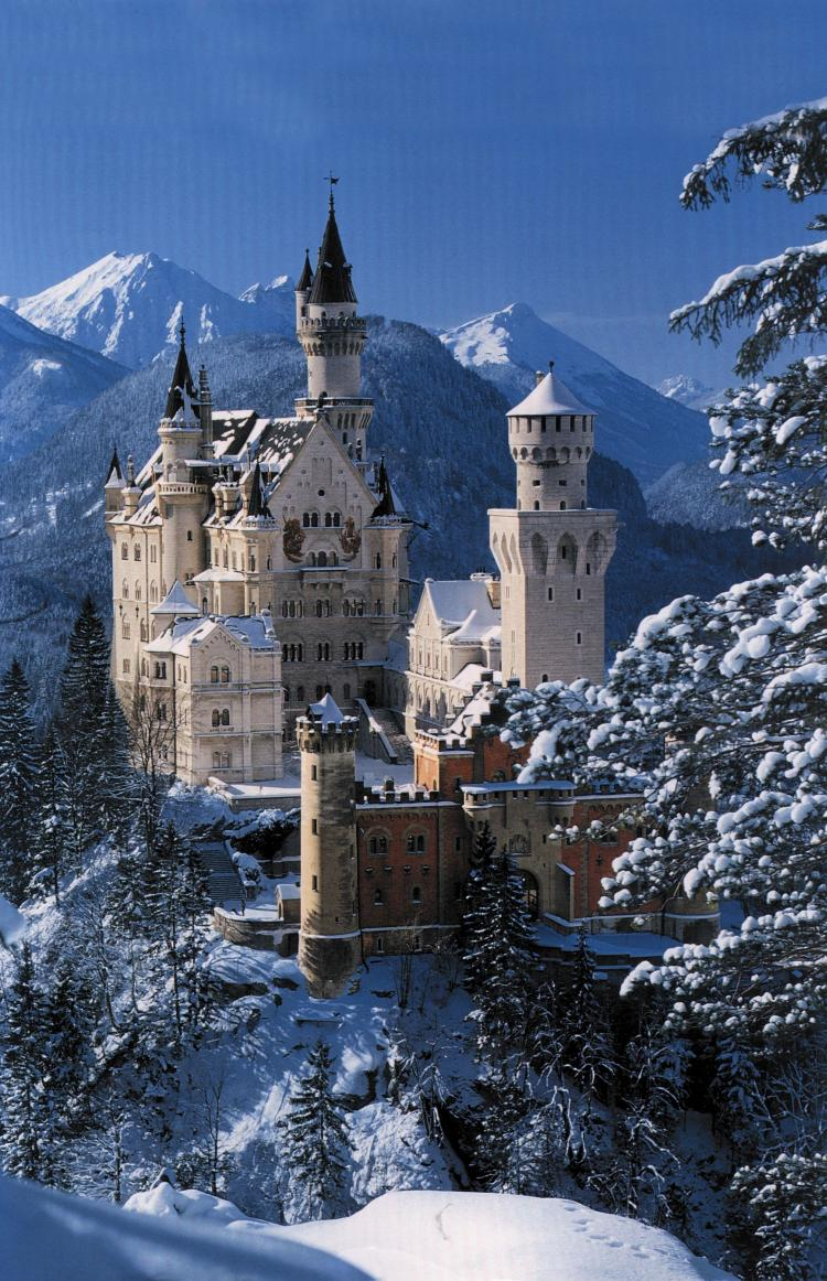 Neuschwanstein Castle, Germany - The castle in wintertime