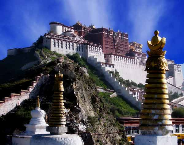 The Potala Palace, Tibet - Side view