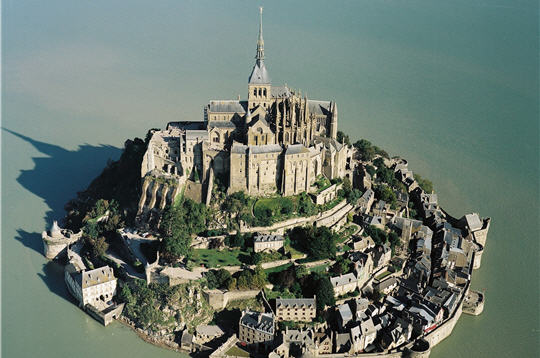 Mount Saint Michel, France - Aerial view of the island