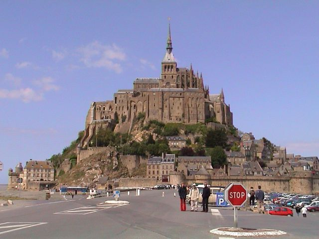 Mount Saint Michel, France - Close view of the castle