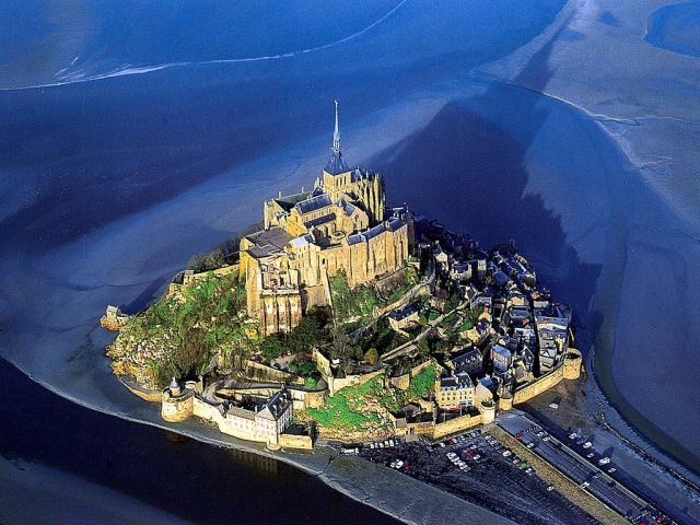 Mount Saint Michel, France - General view of the castle