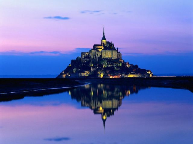 Mount Saint Michel, France - Mount Saint Michel reflection