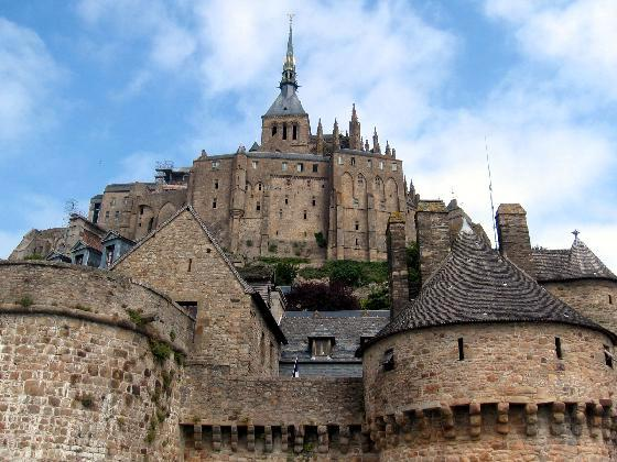 Mount Saint Michel, France - View from the courtyard