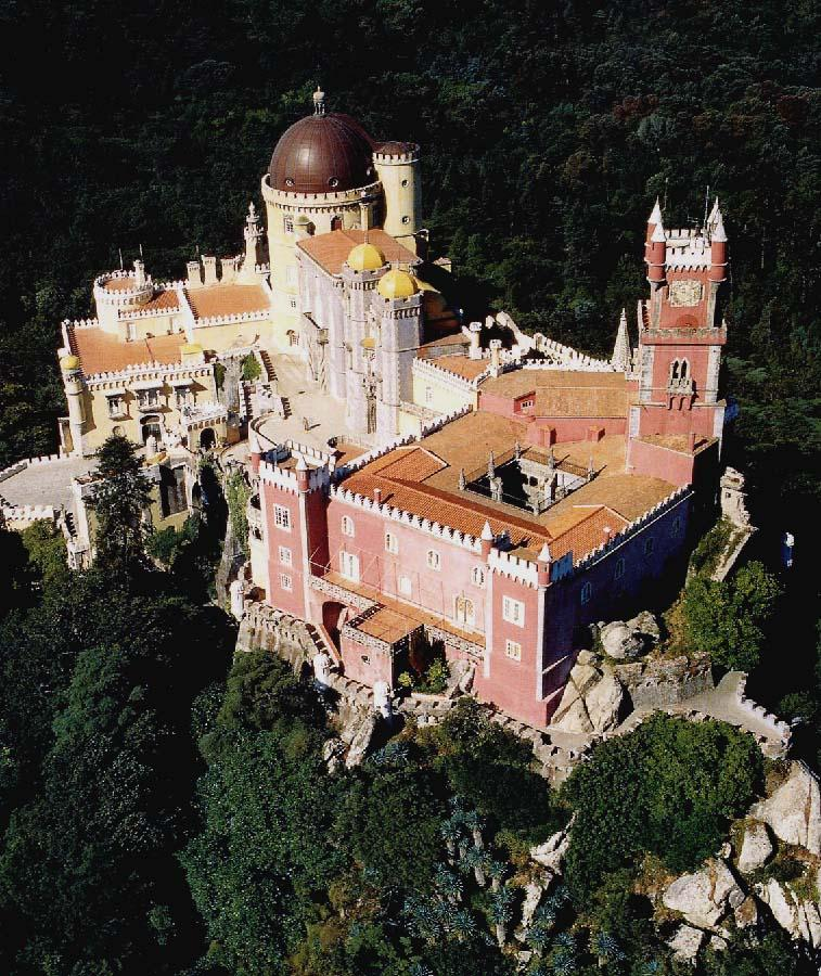 Palacio da Pena, Portugal - Aerial view of the castle