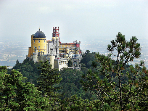 Palacio da Pena, Portugal - The castle dipped into a green oasis