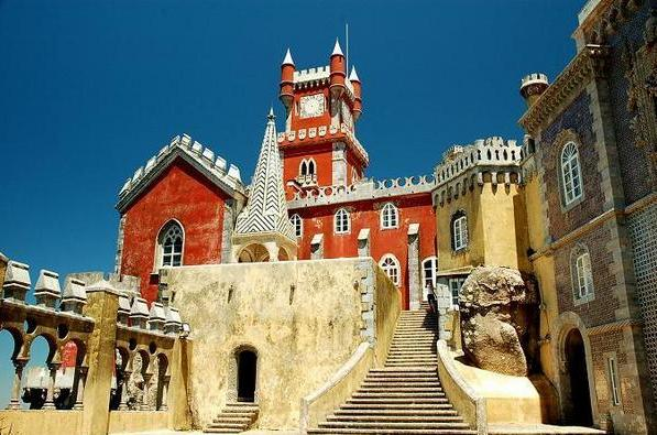 Palacio da Pena, Portugal - The chapel and the Arches Yard