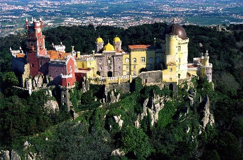 Palacio da Pena, Portugal - The palace seen from above