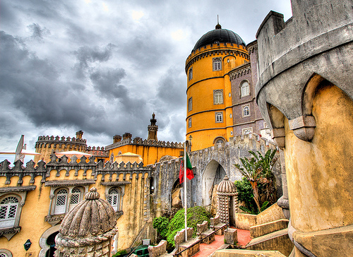 Palacio da Pena, Portugal - View from the courtyard