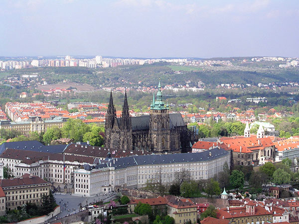 Prague Castle, Czech Republic - Aerial view of the castle