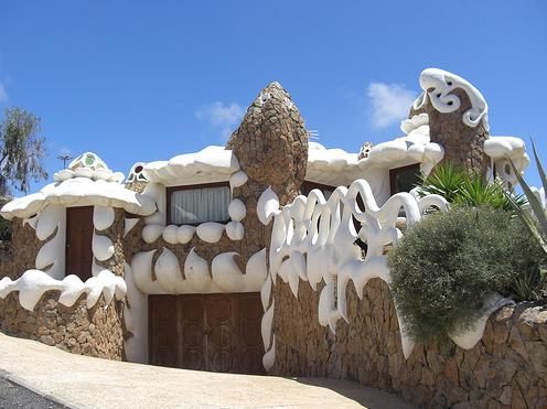 Icing House in Fuerteventura, Spain - Side view of the house