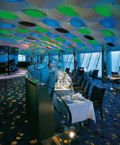 Burj Al Arab in Dubai, the United Arab Emirates - Inside view