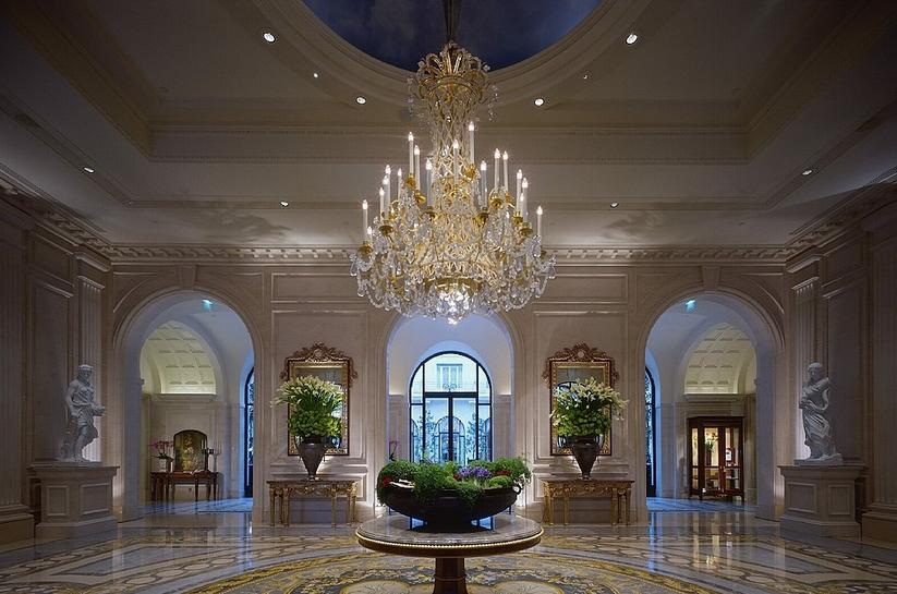 Hotel Four Seasons George V in Paris, France - Lobby of the hotel