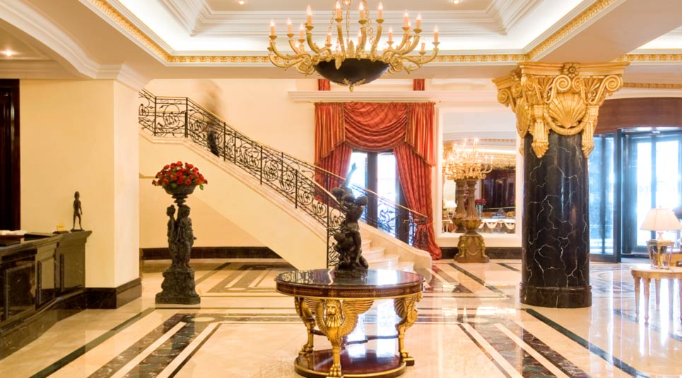 The Ritz Carlton Hotel In Moscow Russia Lobby Of