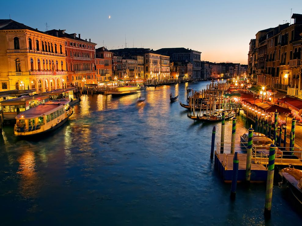 Venice in Italy - Night view