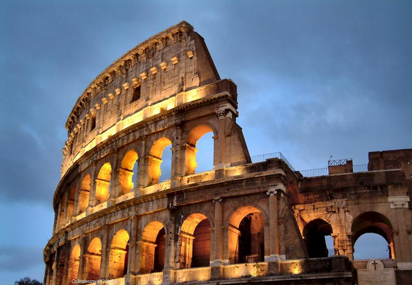 Colosseum in Italy - Colosseum at night