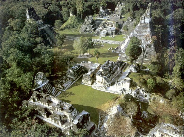 Tikal Ruins in Guatemala Tikal in Guatemala Aerial