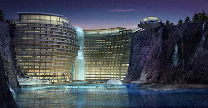 Waterworld Hotel in China - General view
