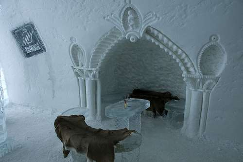 Hotel de Glace in Canada - Inside view