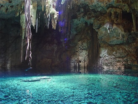 Underground lake near Macan Ché, Mexico - Amazing view