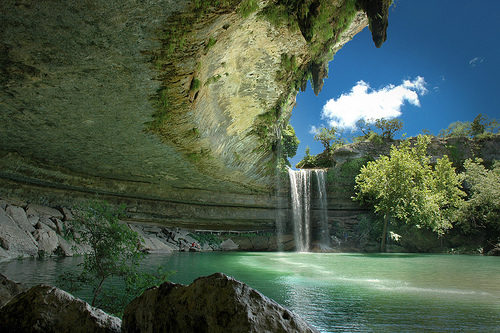 Hamilton Pool Preserve in Austin, Texas   - Picturesque waterfall