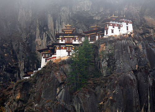 Taktshang in Bhutan - General view of the temple