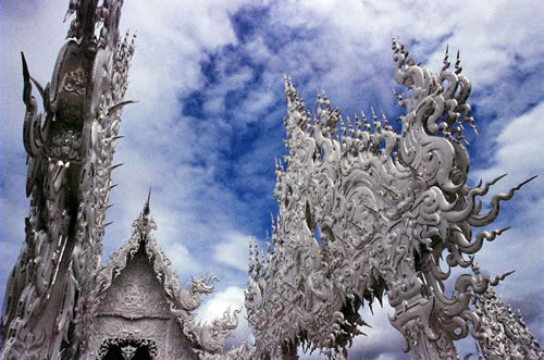 Wat Rong Khun in Thailand - Arches