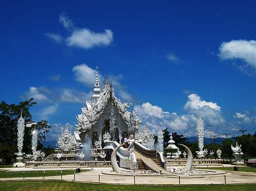 Wat Rong Khun in Thailand - General view