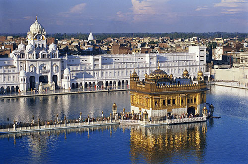 Golden Temple in India - Aerial view of the temple