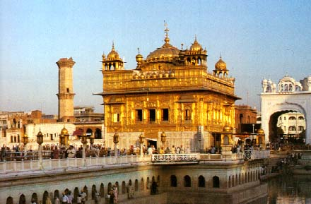 Golden Temple in India - General view