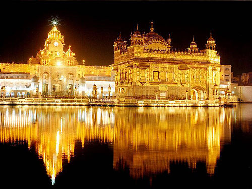Golden Temple in India - The temple at night