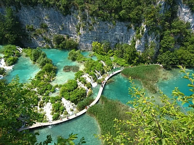 Plitvice Lakes in Croatia - Aerial view