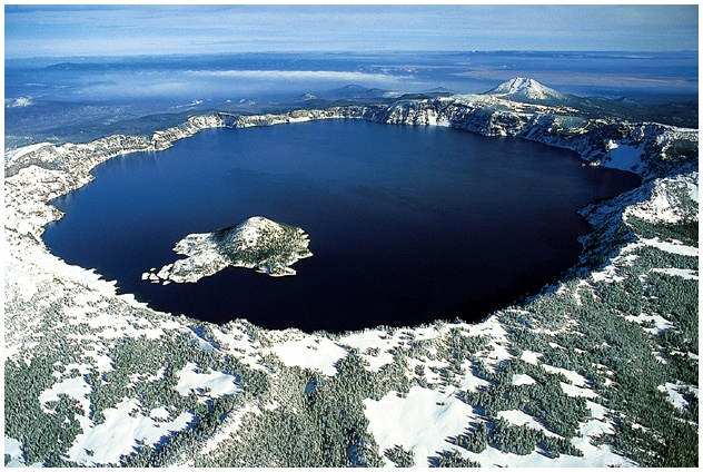 Crater Lake in USA - Aerial view