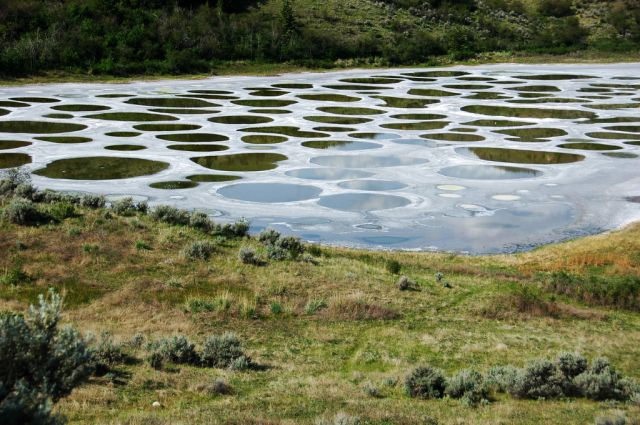 Spotted Lake in Canada - Panoramic views