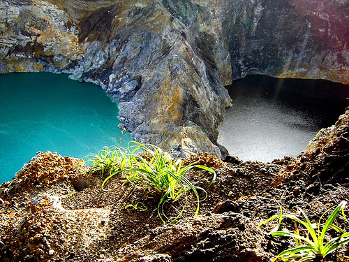 Kelimutu Lakes in Indonesia - Panoramic scenery