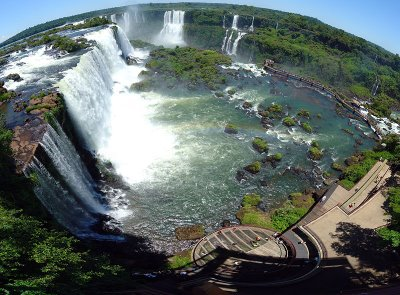 Iguazu Falls in Argentina/Brazil - Aerial view