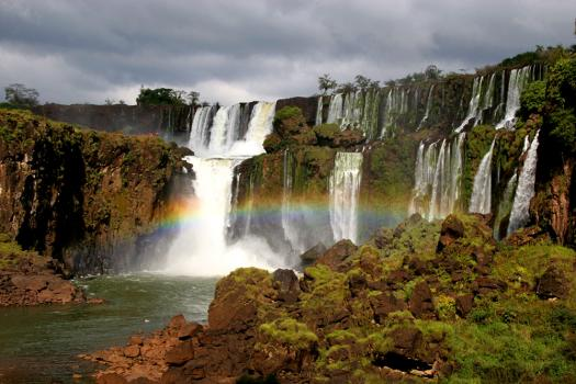 Iguazu Falls in Argentina/Brazil - Beautiful rainbow