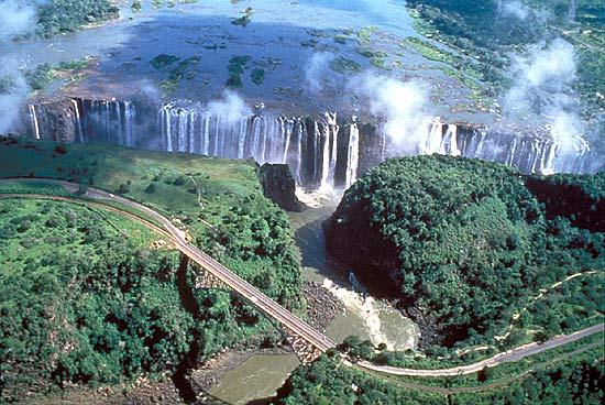 Victoria Falls in Zimbabwe - Aerial view