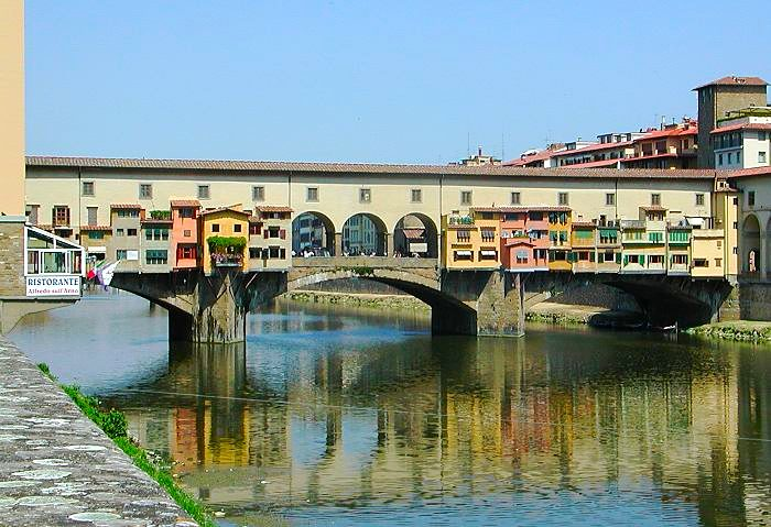 ıtaly Map With Florence Ponte Vecchio İn