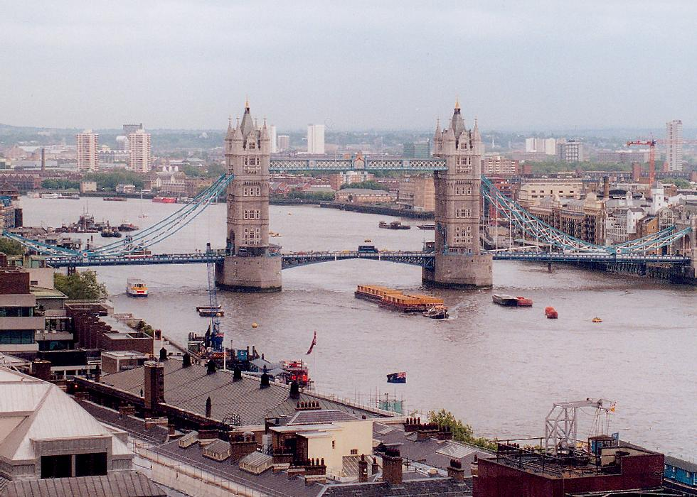 Tower Bridge in United Kingdom - Aerial view