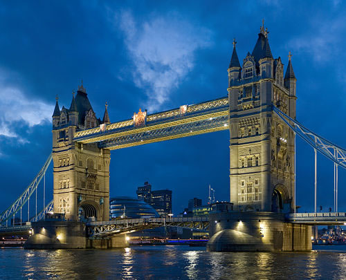 Tower Bridge in United Kingdom - General view