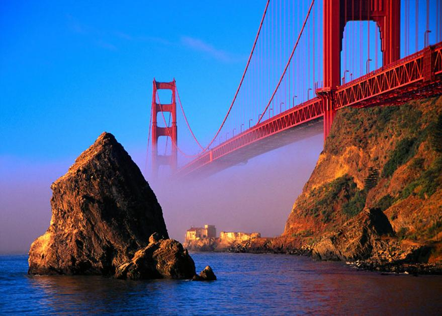 Golden gate bridge in usa the most beautiful places in usa Top 10 most beautiful places in america