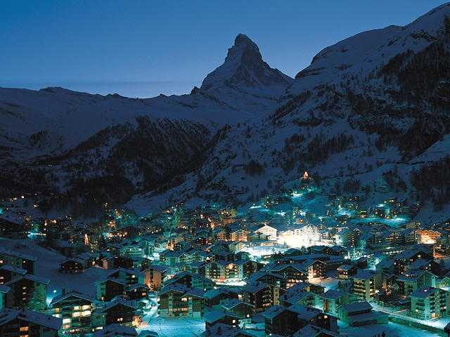 Zermatt in Switzerland - Night view