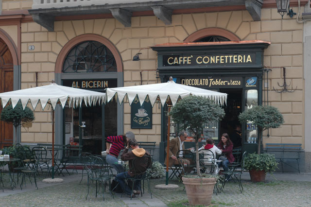 Caffe Al Bicerin in Turin - External view